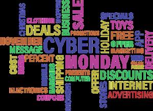 Cyber Monday Wortwolke