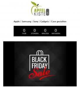 Apfelkiste Black Friday