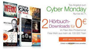 Audible Black Friday und Cyber Monday Angebote