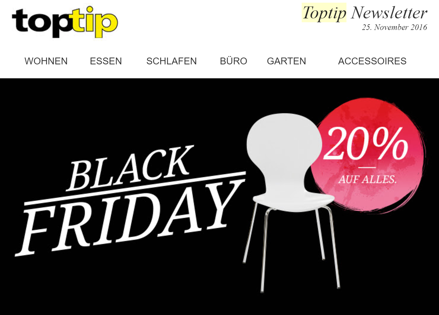 Toptip deal bersicht zum black friday cyber monday 2017 for Conforama black friday