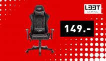 L33T Elite Eccentric Gaming-Stuhl Schwarz