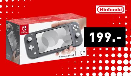 Switch Lite Spielekonsole – Grau