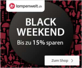 15% Black Weekend Rabatt bei Lampenwelt