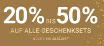 20-50% Rabatt auf alle Geschenksets bei der Import Parfumerie