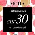 Profitez jusqu'à CHF 30 en bon d'achat chez Mona