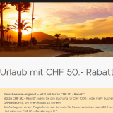 CHF 50.- Rabatt auf Pauschalreisen bei easyJet