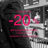 Nur heute: 20% auf ausgew. Artikel bei Zara