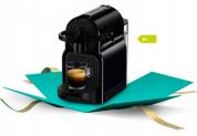 Nespresso Inissia Black + 50 Kaffee + 60.- Kaffee-Gutschein