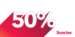 50% rabais sur Sunrise swiss unlimited