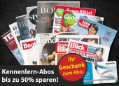 Bis 50% auf Zeitschriften-Abos bei online-kiosk