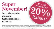 20% Rabatt ab CHF 50.- MBW bei Zur Rose Apotheke