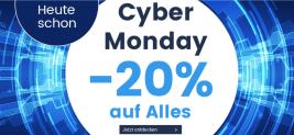 20% Rabatt auf alles bei Ackermann Versand zum Cyber Monday (exkl. Samsung & Apple)