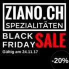 20% auf Lebensmittel Spezialitäten bei Ziano.ch am Black Friday 2017