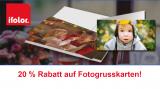 20% Rabatt auf Fotogrusskarten bei ifolor
