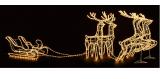 Figure d'un traîneau de rennes lumineux LED