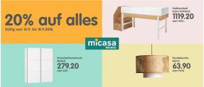 MICASA – 20% Rabatt auf komplett alles