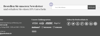 10% Rabatt bei PerfectHair.ch mit Newsletteranmeldung