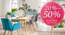 -50% Rabatt auf alle Tische und Stühle bei toptip / Livique