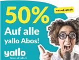 50% auf alle 12-Monats Abos bei yallo